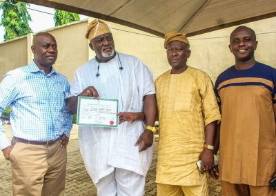 His Excellency Engr Seyi Makinde Displaying Gubernatorial Certificate