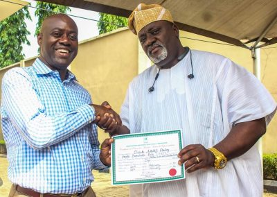 His Excellency Engr Seyi Makinde Displaying Gubernatorial Certificate2